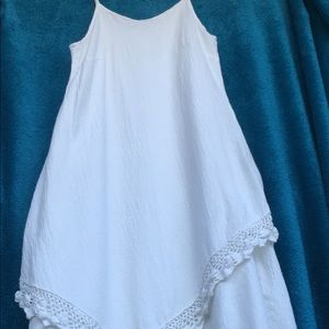Dresses & Skirts - White gauze boho beach wedding dress